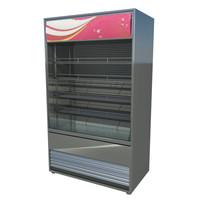 3d model commercial refrigerator