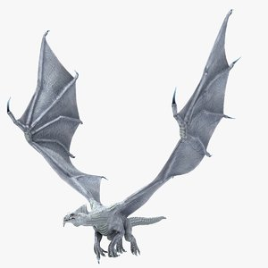 3ds max white dragon character