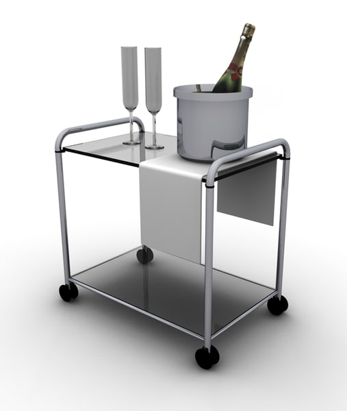 little room table champagne 3d model
