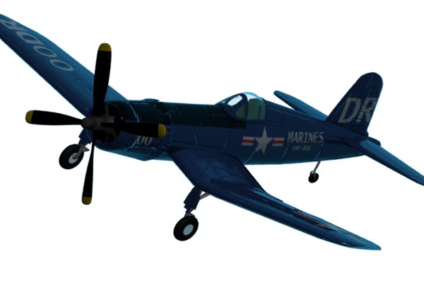 free corsair f4 f4u 3d model