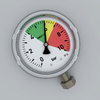 pressure gauge 3d max