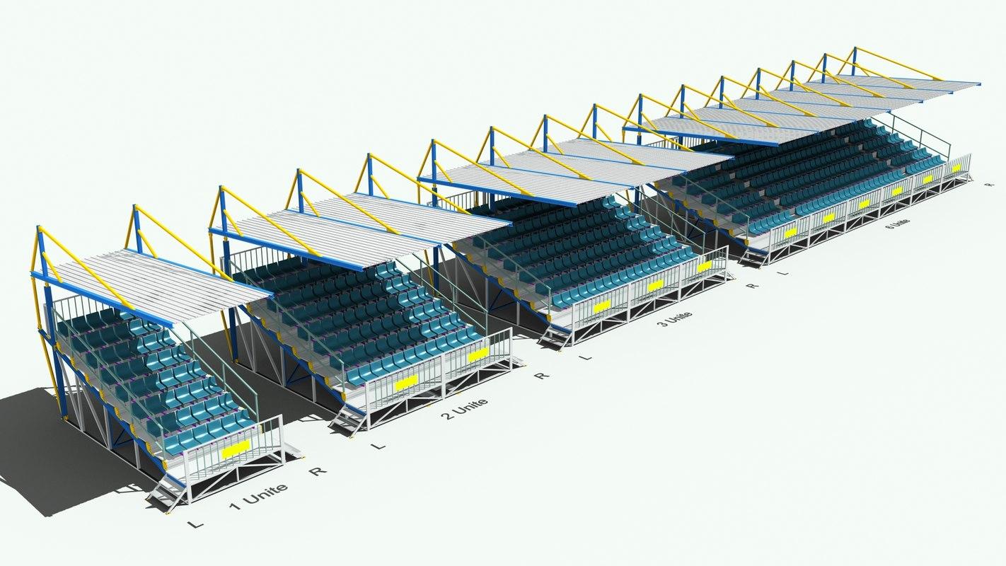 3d sport seating model
