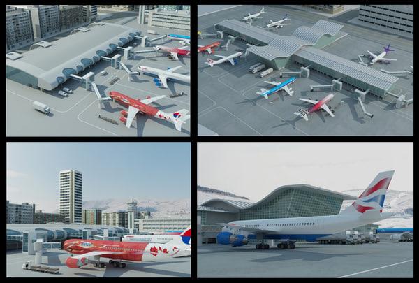 max 2 airports