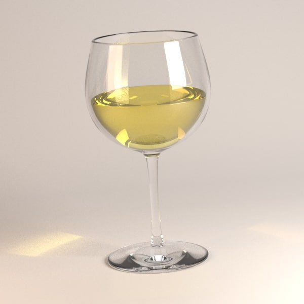 3ds max alcoholic drink white