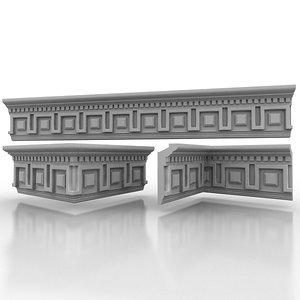 3d model decorate classical