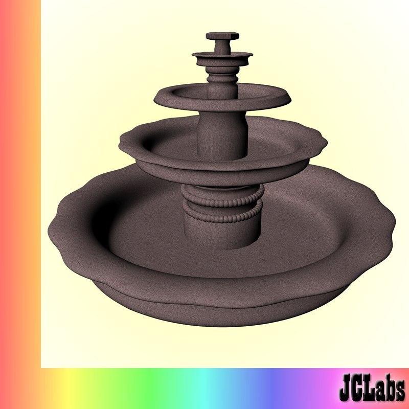 3dsmax fountain