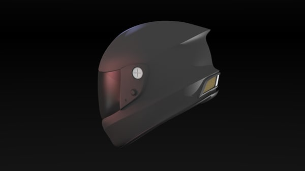 face sport bike helmet 3d model