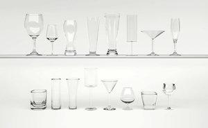 set glasses 3d max