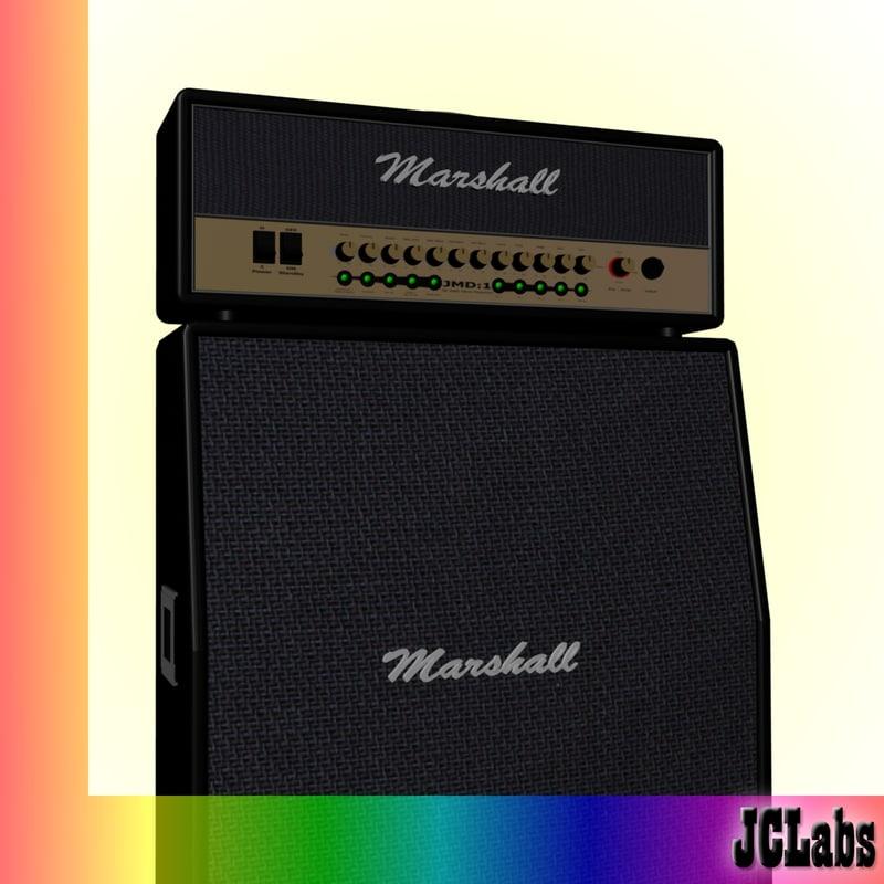 3d marshall amplifier model