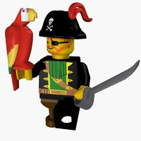 free 3ds model pirates captain lego man