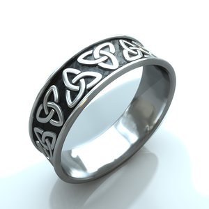 free celtic ring 3d model