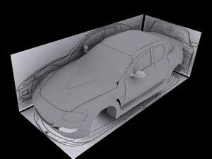 car rx-8 body 3d max