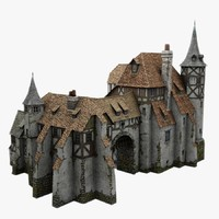 old medieval warehouse 3d obj