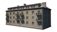 tenement house 3d obj