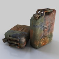 Low Poly Rusty Jerrycan