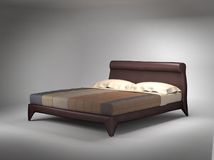 3ds bed flou chocolat