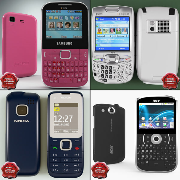 cellphones v18 3d 3ds