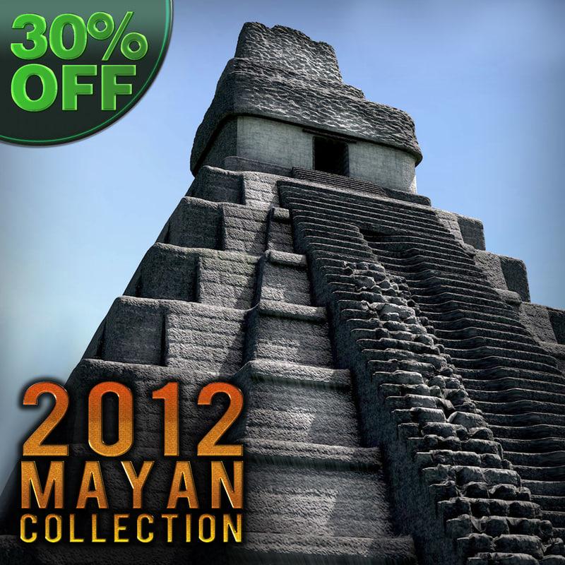 3d model mayan pyramid