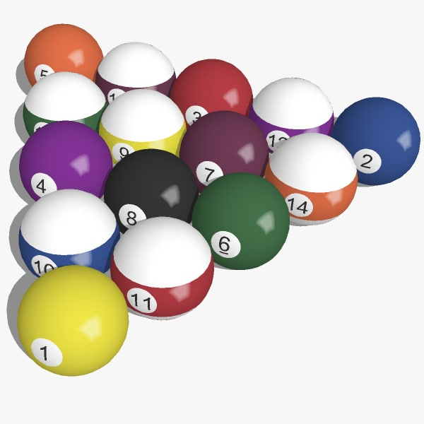 3ds max sketchup pool balls billiard