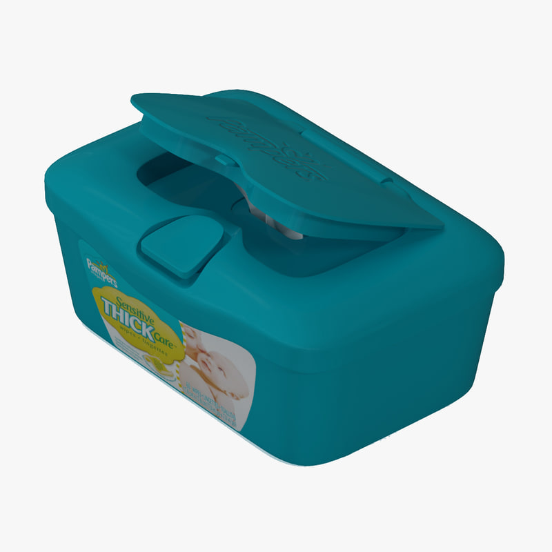 wipes box 3d 3ds