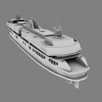 3d model ferry boat