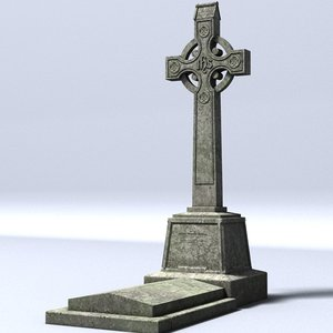 celtic gravestone 3d model