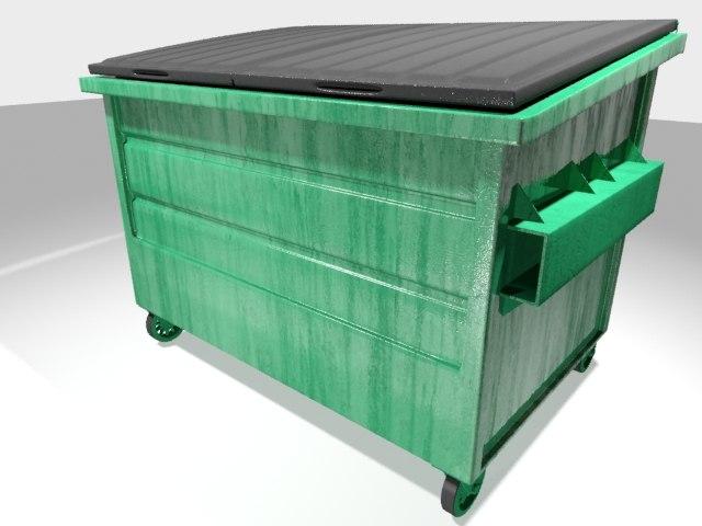 3d 3ds dumpster dirty polys
