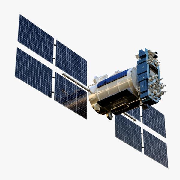 satellite glonass-m 3d max