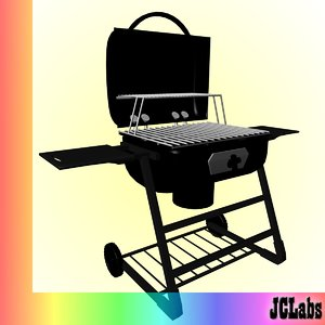 bbq grill 3d 3ds