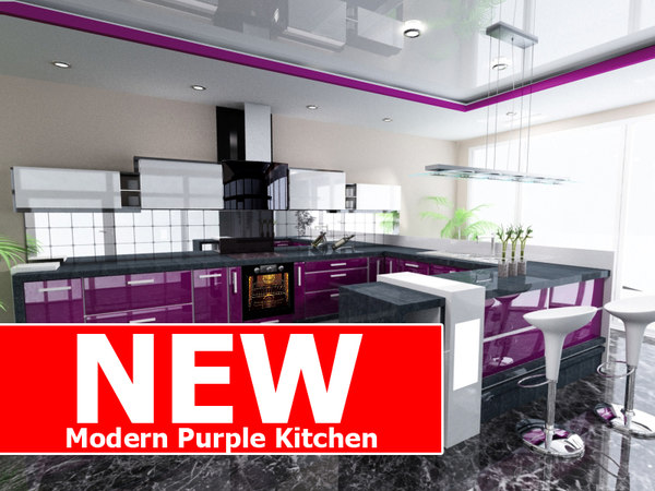 modern purple kitchen max