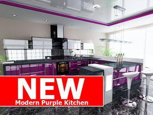 modern purple kitchen max