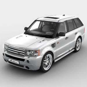 3d realistic range rover sport