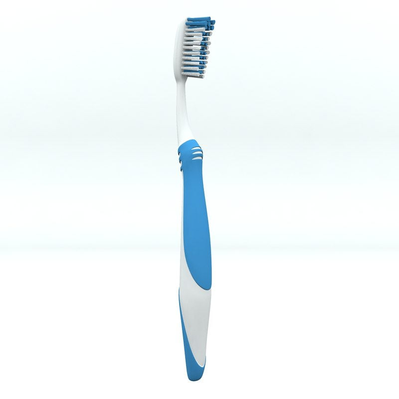 toothbrush 3d max