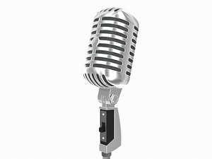 3d model retro microphone