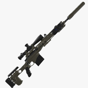 3dsmax modular sniper rifle