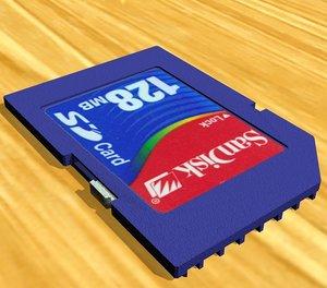 3d model sandisk memory card