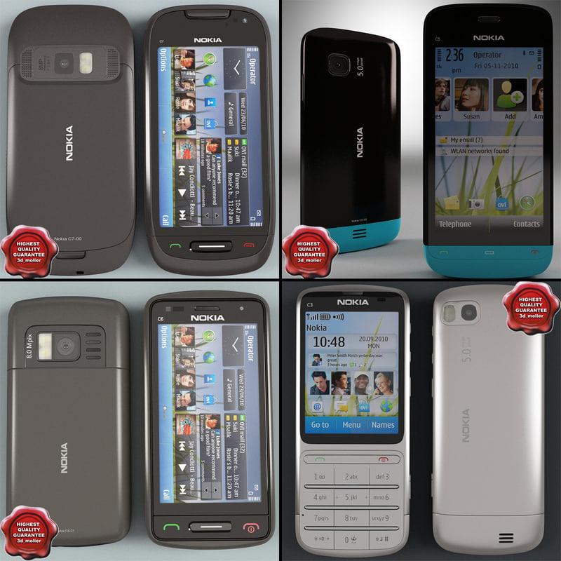3d cellphones 34 model