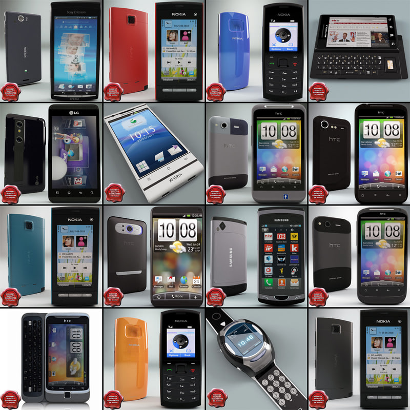 3ds max cellphones 67 mobile phone