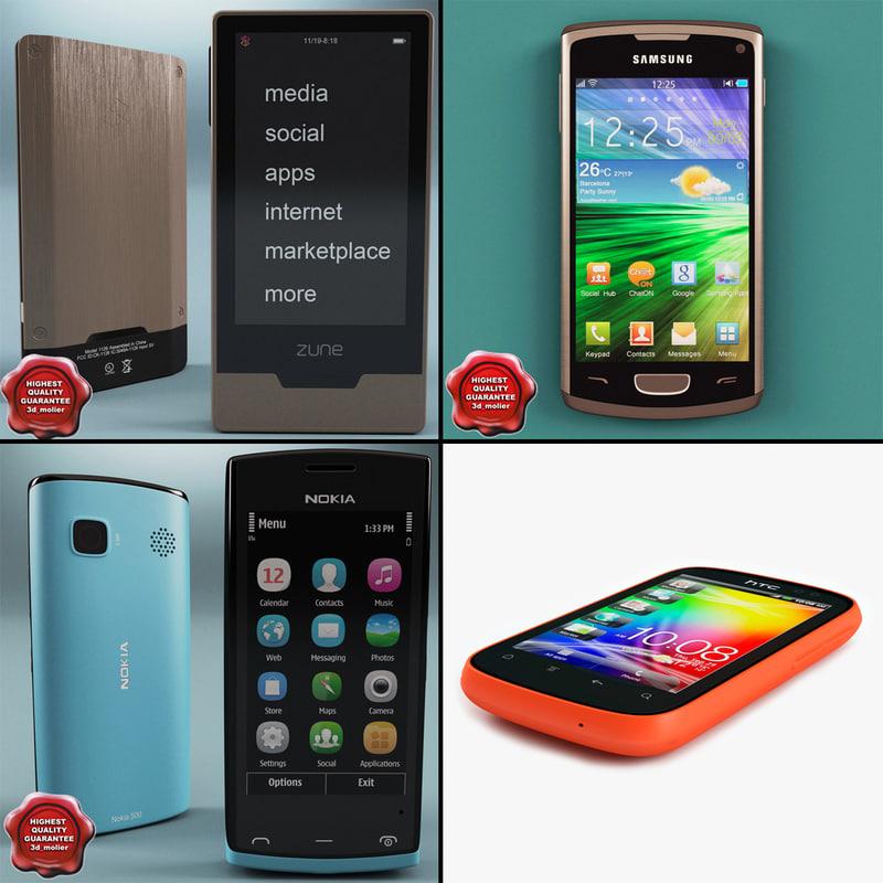 cellphones 7 phone 3d model