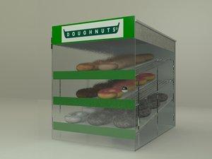 doughnut pastry display 3d model