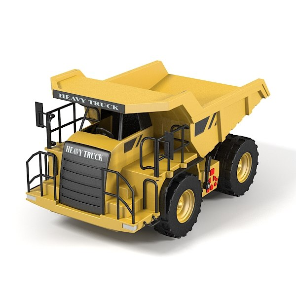 heavy truck toy 3d obj