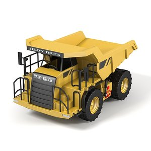 heavy truck toy 3d obj