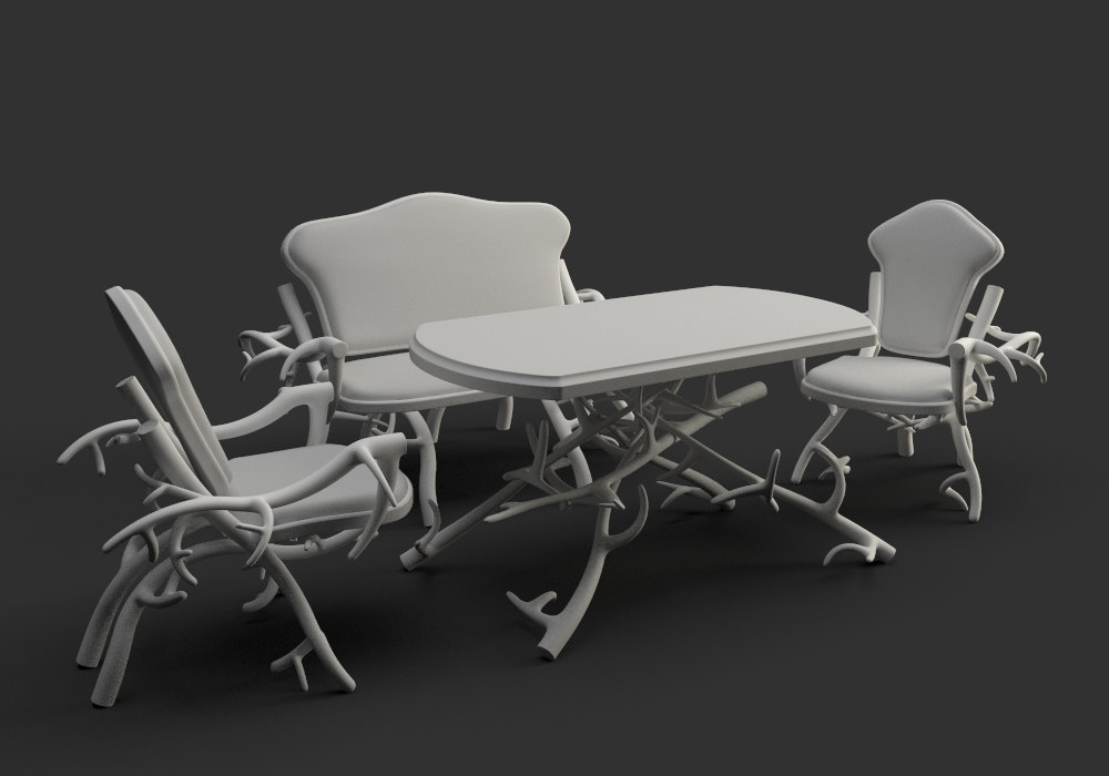 dining tables chairs 3d max