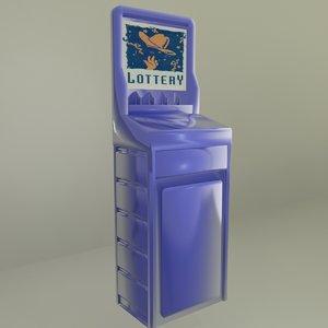 lotto display 3d model