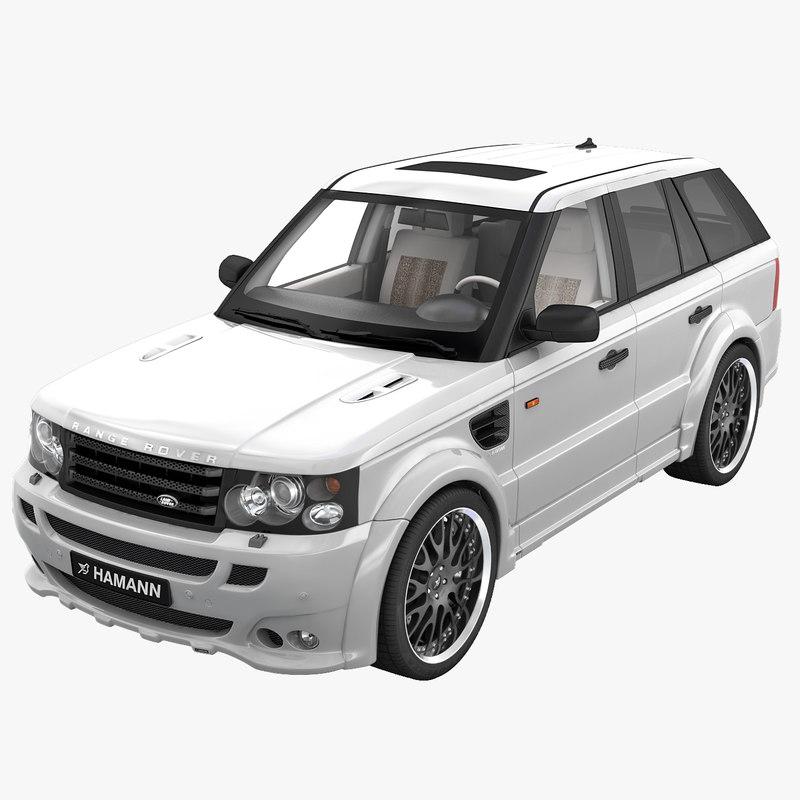 realistic range rover sport 3d model