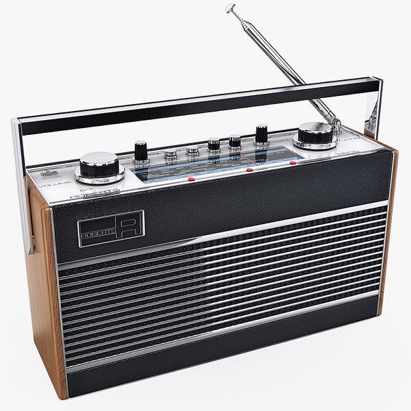 radio roberts r606 3d max