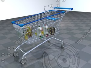 3d model cart shopping car