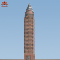 3d model of messeturm skyscraper landmark frankfurt