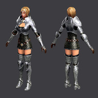3d model female warrior