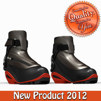 cross country ski boots 3d ma